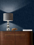 Shimmer Linen Navy Blue | Muriva Wallpaper 173533