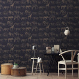 Graham & Brown Boutique Wallpaper | Safari Midnight/Rose Gold | 104893