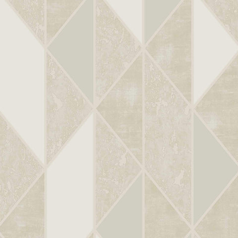 G&B Superfresco Wallpaper | Milan Geo Taupe/Gold | 106406