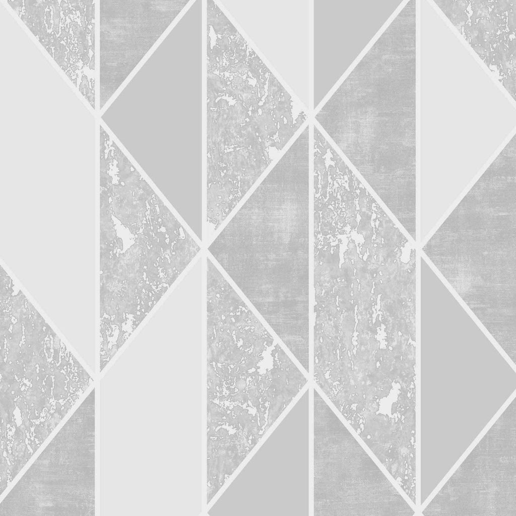 G&B Superfresco Wallpaper | Milan Geo Grey/Silver | 106405