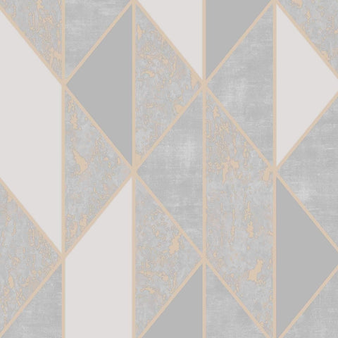 G&B Superfresco Wallpaper | Milan Geo Rose Gold | 106407