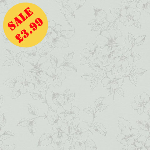 SALE Rasch Wallpaper | Jardin Floral Duck Egg/Grey | 204520