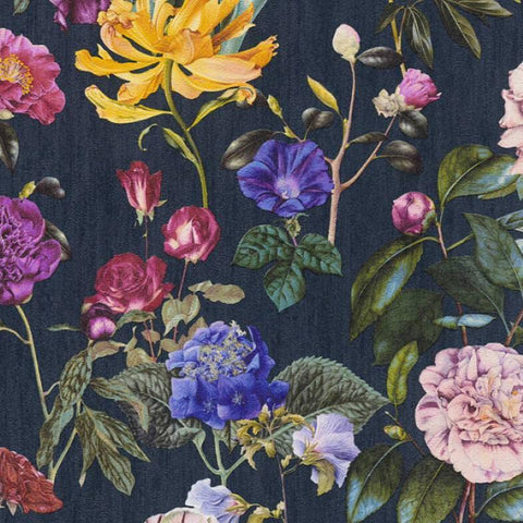 AS Creation Wallpaper | Jette Floral Navy Blue | 37336-4