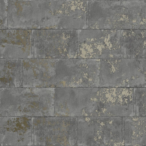 Concrete Brick Charcoal | Rasch Wallpaper 248685