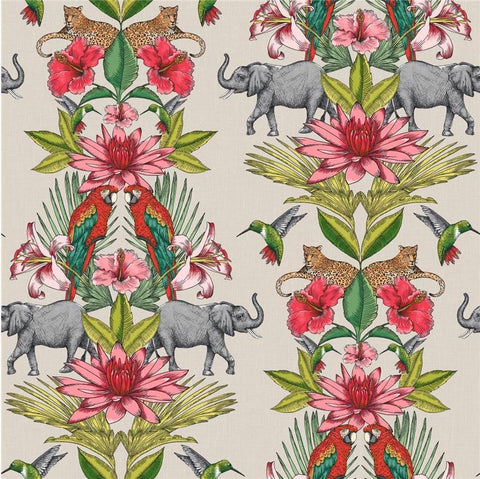 Rasch Wallpaper | Colonial Elephant Multi | 270419