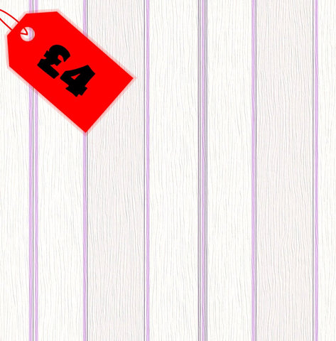CLEARANCE Kids Wallpaper | Barcode Stripe Lilac/White | 272413
