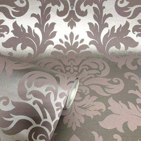 Platina Damask Rose | Rasch Platina Wallpaper | 275796