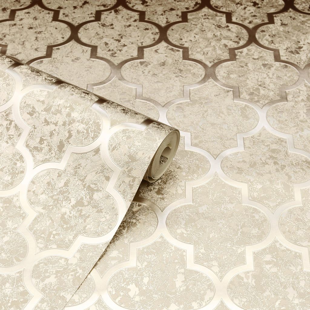 Velvet Trellis Champagne | Arthouse Wallpaper | 294602