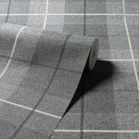 Arthouse Wallpaper | Country Tartan Charcoal | 294900