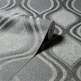 Arthouse Wallpaper | Curve Charcoal | 295100
