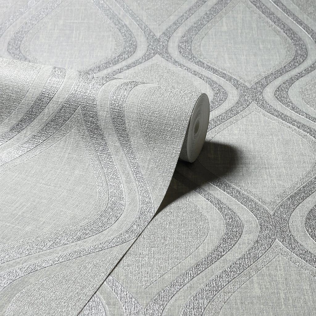 Arthouse Wallpaper | Curve Grey | 295101