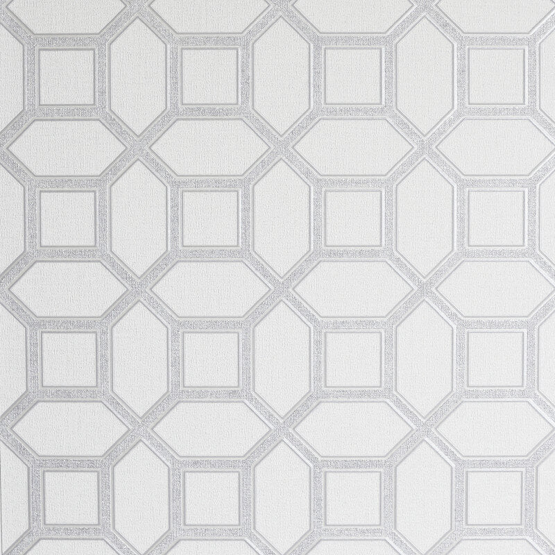 Hotel Luxe Origin White/Silver | Arthouse Wallpaper 295603