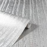 Luxe Industrial Stripe Silver | Arthouse Wallpaper 295800