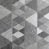 Luxe Triangle Charcoal | Arthouse Wallpaper 295901