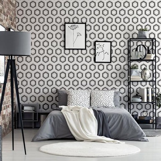 Ikat Geo Mono | Arthouse Wallpaper | 296801