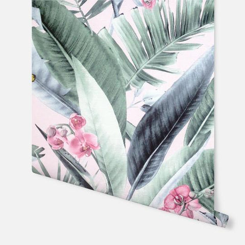 Lush Tropical Blush | Arthouse Vinyl Wallpaper | 297505