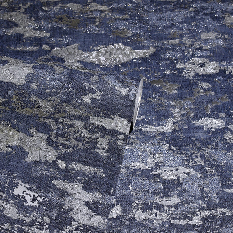 Patina Navy Blue | Luxury Arthouse Wallpaper | 297602