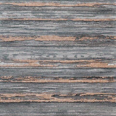 Sahara Charcoal/Rose Gold | Arthouse Luxury Wallpaper | 297704