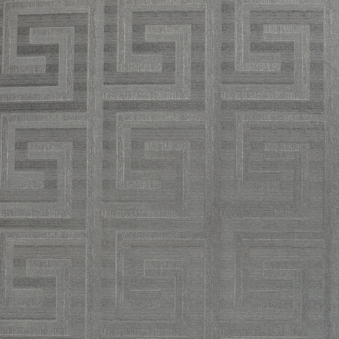 Greek Key Foil Gunmetal | Arthouse Wallpaper | 298101
