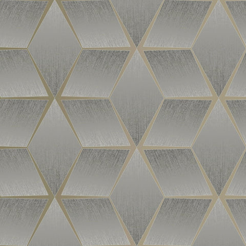3D Texture Geo Charcoal | Rasch Wallpaper 310610