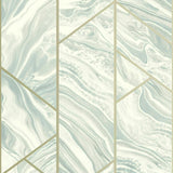 Marble Geo Soft Teal | Rasch Wallpaper 310924