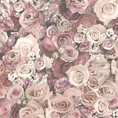 AS Creation's Wallpaper | Urban Flowers Rose Floral Dusky Pink | 32722-2