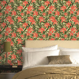 SALE Graham & Brown Wallpaper | Paradise Floral Orange | 33-036
