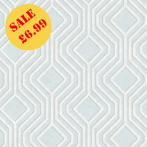 SALE Holden Opus Wallpaper | Geo Sequin Soft Teal | 35562
