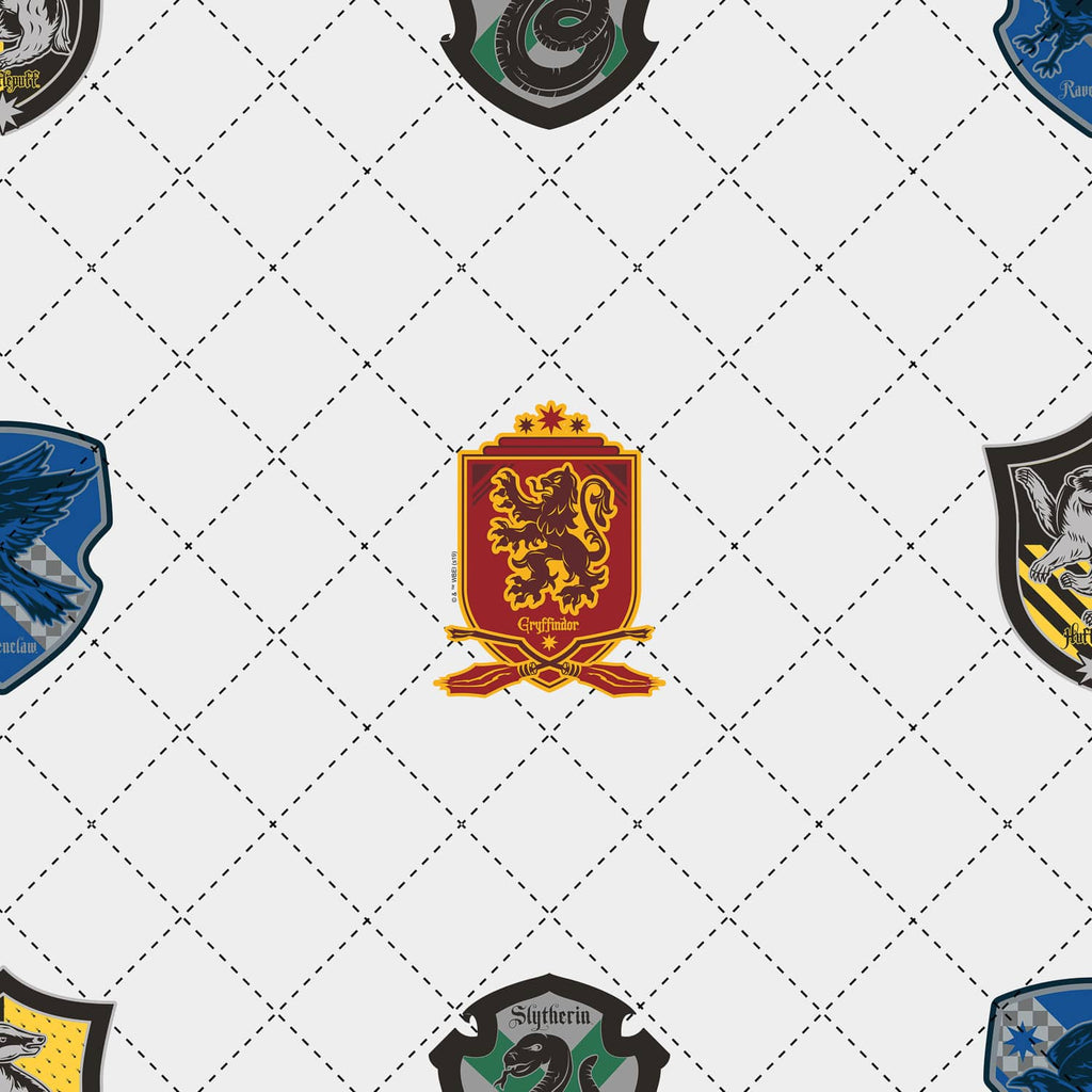 House Pride White/Multi | Harry Potter Wallpaper 108699 Graham & Brown