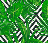 AS Creation Wallpaper | Graphic Leaf Black/Green | 36811-2