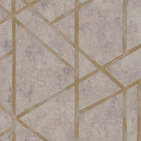 AS Creation Wallpaper | MET Geometric Stone/Gold | 36928-3