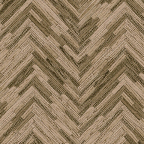 Versace Wallpaper Collection | Eterno Tile Walnut | 37051-2