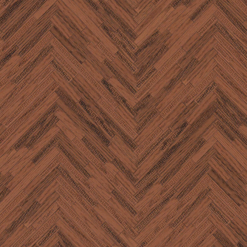 Versace Wallpaper Collection | Eterno Tile Redwood | 37051-3