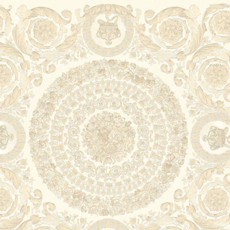 Versace Wallpaper Collection | Heritige Ivory Pearl | 37055-1