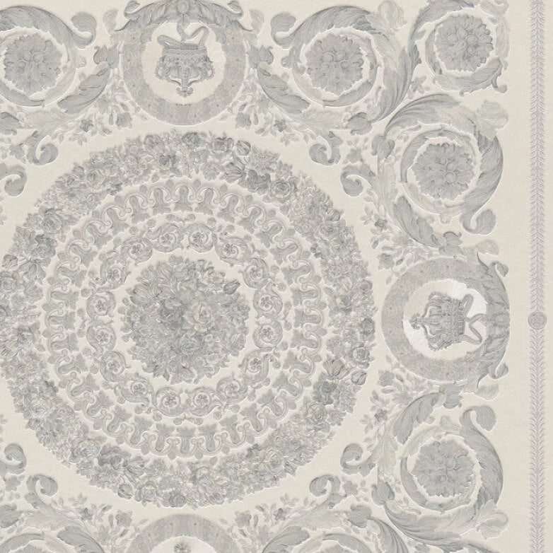 Versace Wallpaper Collection | Heritage Silver/Grey | 37055-5