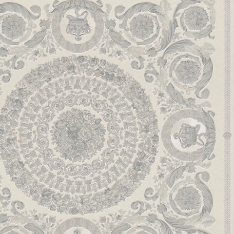 Versace Wallpaper Collection | Heritige Silver/Grey | 37055-5