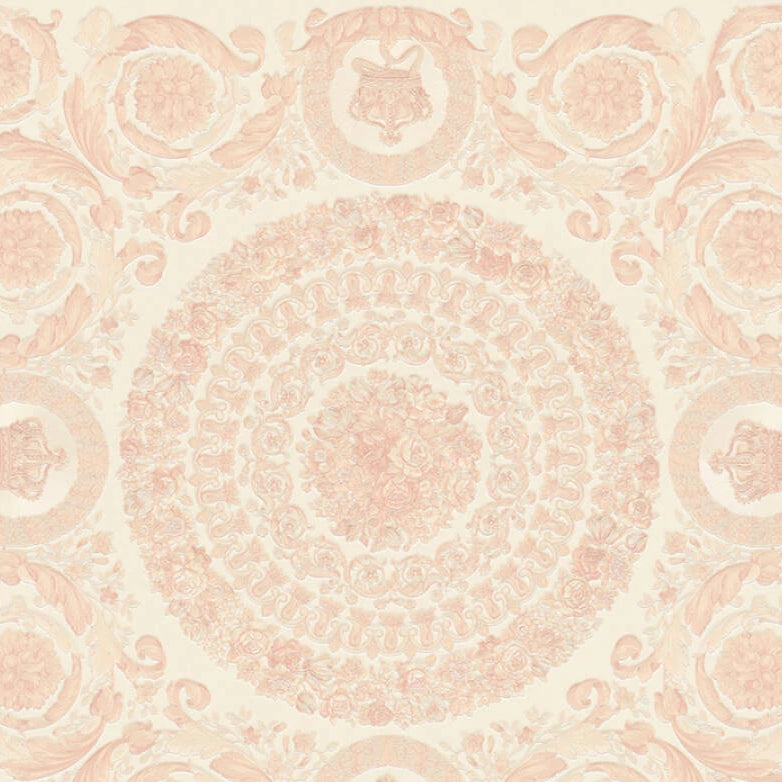 Versace Wallpaper Collection | Heritage Ivory/Rose Gold | 37055-6
