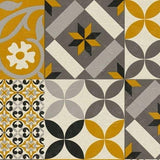New Life Tile Mustard/Grey | AS Creation Wallpaper | 37684-1