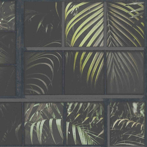 Tropical Panel Green/Black | AS Creation Wallpaper | 37740-3