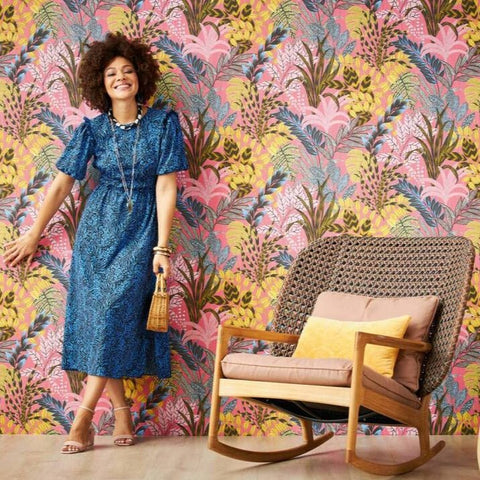 Nala Tropical Pink | AS Creation Metropolitan Stories | 37860-2