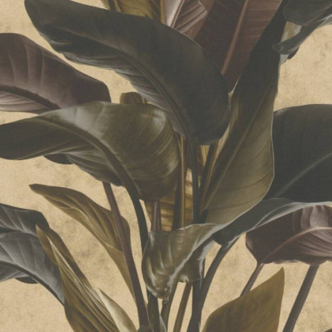 Banana Palm Neutral/Black | AS Creation Wallpaper | 378624