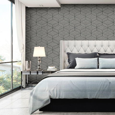Belgravia Decor Wallpaper | Luciano Geo Charcoal | GB3850