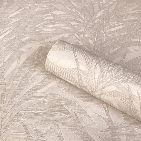 Palm Taupe Wallpaper | Zambaiti Parati Vinyl GB3860