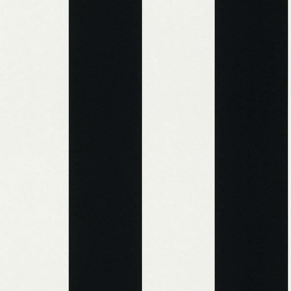Rasch Wallpaper | Bold Stripe Black/White | 286694
