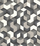 Rasch Wallpaper | Denzo Cube Grey | 403923