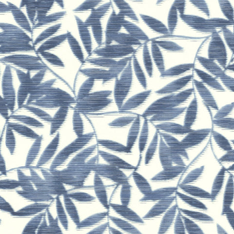Rasch Wallpaper | Denzo Leaf Navy Blue | 406337