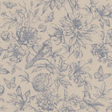Rasch Wallpaper | Florentine Bird & Branch Navy | 449471