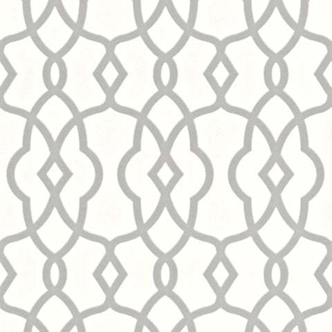 Rasch Wallpaper | Freundin Lattice Silver | 442816