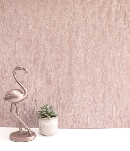 SALE Rasch Wallpaper | Cascata Texture Rose Gold | 520422