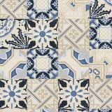 Crispy Paper Tile Blue Wallpaper | Sale Rasch Wallpaper | WonderWall